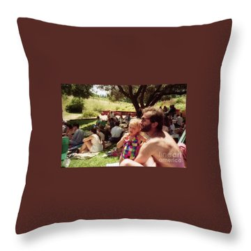 Family Music Event Throw Pillow