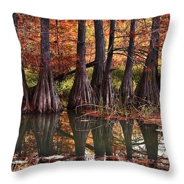 Throw Pillow featuring the photograph Family Of Cypress At Lake Murray by Tamyra Ayles