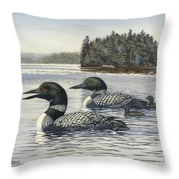 Loon Throw Pillows