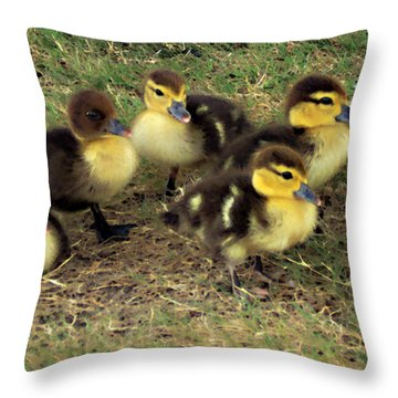 Family Portrait Throw Pillow by Angelina Vick