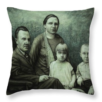 Family Portrait Throw Pillow by James W Johnson