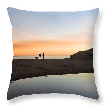 Family Sunset Throw Pillow