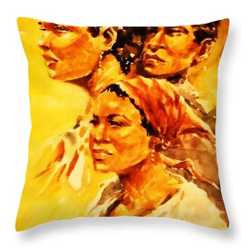 Family Ties Throw Pillow by Al Brown