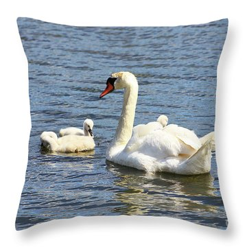 Family Time Throw Pillow by Alyce Taylor
