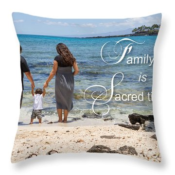 Family Time Is Sacred Time Throw Pillow