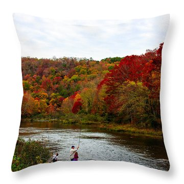 Throw Pillow featuring the photograph Family Time by Jerry Bunger