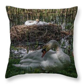 Family Time Throw Pillow by Odd Jeppesen