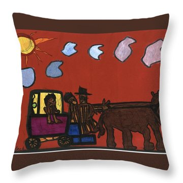 Family Transport Throw Pillow