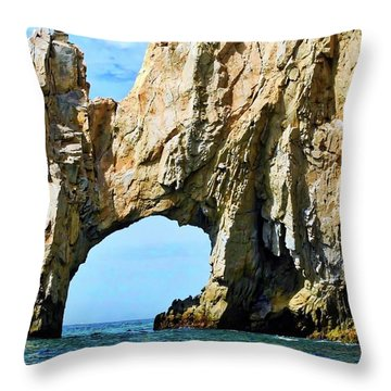 Famous Arch In Cabo San Lucas Throw Pillow