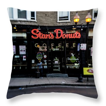 Famous Chicago Donut Shop Throw Pillow