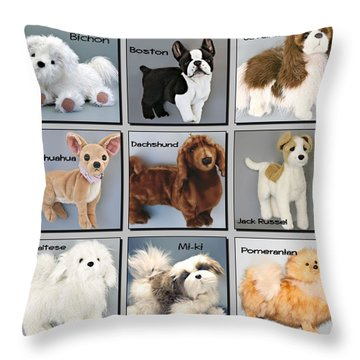 Famous Dogs Throw Pillow by David and Lynn Keller