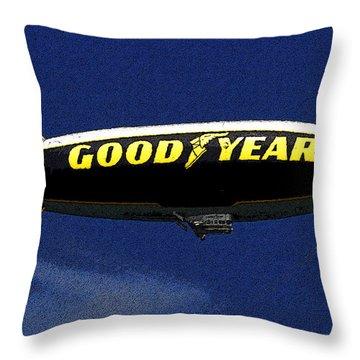 Goodyear Blimp Throw Pillows Fine Art America