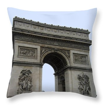 Famous Gate Of Paris - Arc De France Throw Pillow
