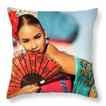 Fan Cathy Throw Pillow