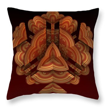 Throw Pillow featuring the digital art Fan Dance by Lyle Hatch