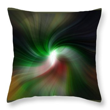 Fan Twirl Throw Pillow