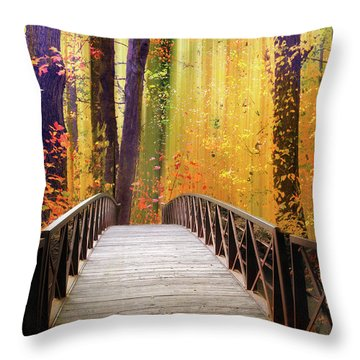 Throw Pillow featuring the photograph Fanciful Footbridge by Jessica Jenney