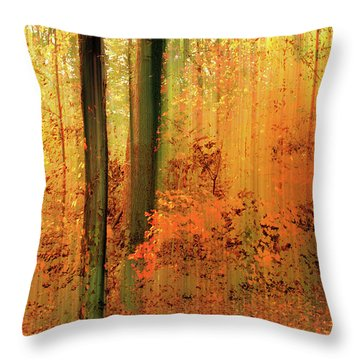 Throw Pillow featuring the photograph Fanciful Forest by Jessica Jenney