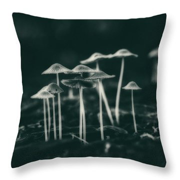 Fanciful Fungus Throw Pillow
