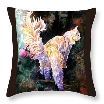 Throw Pillow featuring the painting Fancy Britches by Sherry Shipley