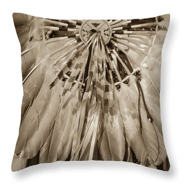 Fancy Dancer Male Sepia Throw Pillow