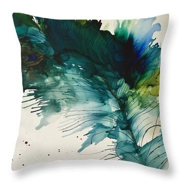 Fancy Feather Throw Pillow