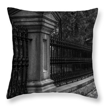 Fancy Fence Throw Pillow by Celso Bressan