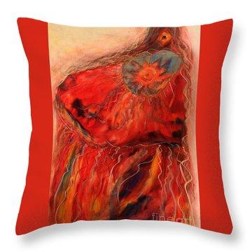 Fancy Shawl Dancer Throw Pillow by FeatherStone Studio Julie A Miller