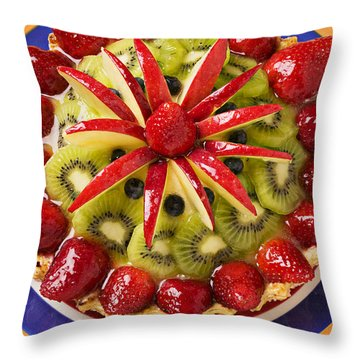 Fancy Tart Pie Throw Pillow by Garry Gay