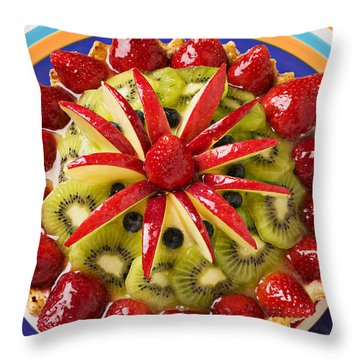 Fancy Tart Pie Throw Pillow
