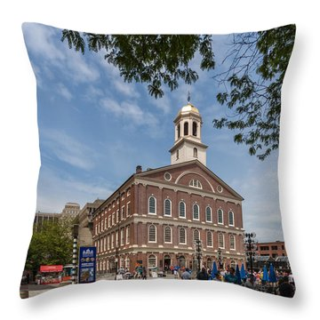 Faneuil Hall Boston Throw Pillow