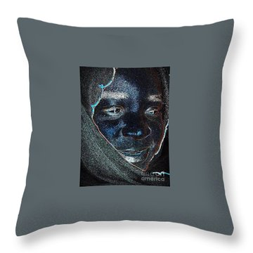 Fania Black Throw Pillow by Fania Simon