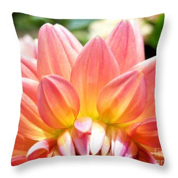 Fanned Out Petals Throw Pillow