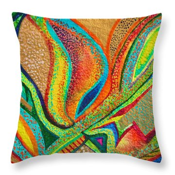 Fanning Flames Throw Pillow
