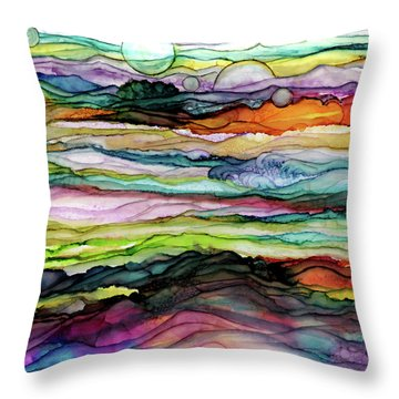 Fantascape Throw Pillow