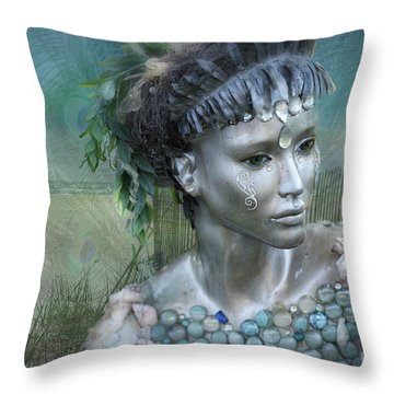 Mermaiden Fantasea Throw Pillow