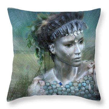 Mermaiden Fantasea Throw Pillow