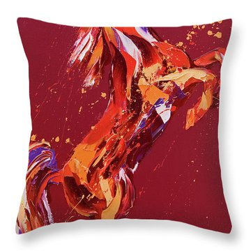 Fantasia Throw Pillow by Penny Warden