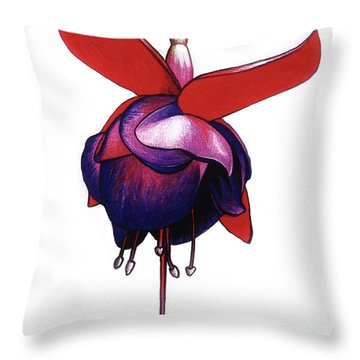 Fantastic Fuchsia Throw Pillow