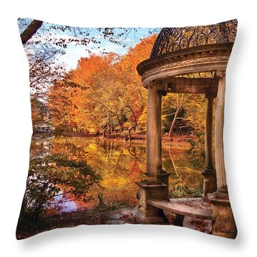 Fantasy - The Temple Throw Pillow by Mike Savad