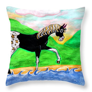 Fantasy Appaloosa Throw Pillow