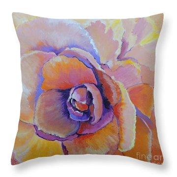 Fantasy Begonia Throw Pillow