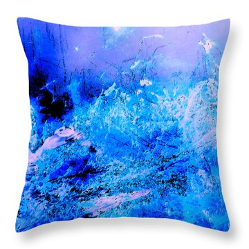 Fantasy Blue Artwork Throw Pillow