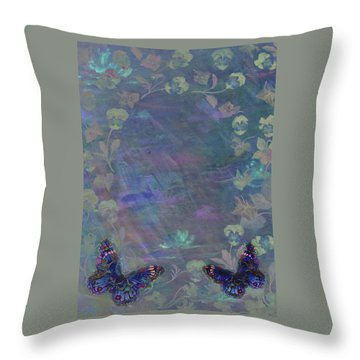 Fantasy Butterfly Painted Pansy Throw Pillow