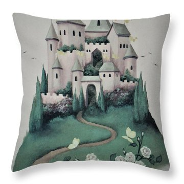 Fantasy Castle Throw Pillow