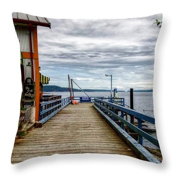 Fantasy Dock Throw Pillow