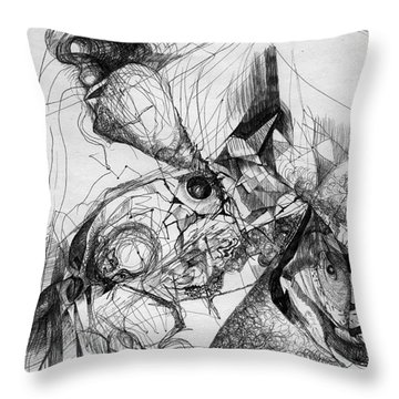 Fantasy Drawing 1 Throw Pillow by Svetlana Novikova