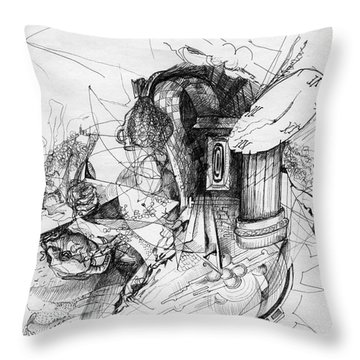 Fantasy Drawing 3 Throw Pillow by Svetlana Novikova