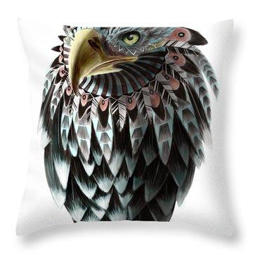 Fantasy Eagle Throw Pillow