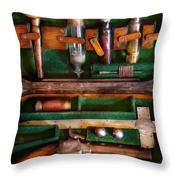 Fantasy - Emergency Vampire Kit  Throw Pillow by Mike Savad